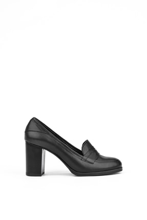 Ziya Kadın Sıyah Hakiki Deri Ayakkabı 10353 2145 4