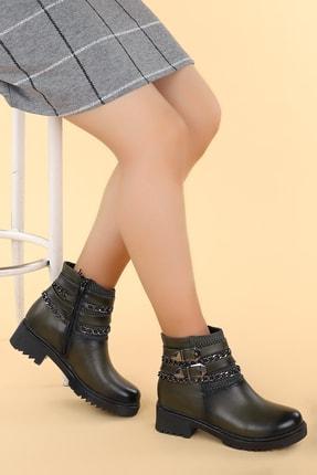 Ayakland Kadın Haki Bot Ayakkabı