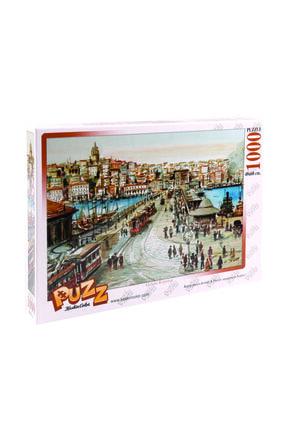 KESKİN COLOR 68x48cm 1000 Parça Puzzle Yapboz Galata Köprüsü (toz Yapıştırıcı Hediyeli)