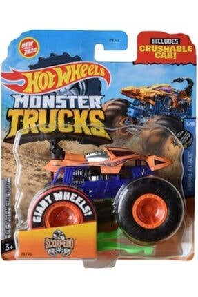 HOT WHEELS Monster Trucks 1:64 Arabalar Scorpedd