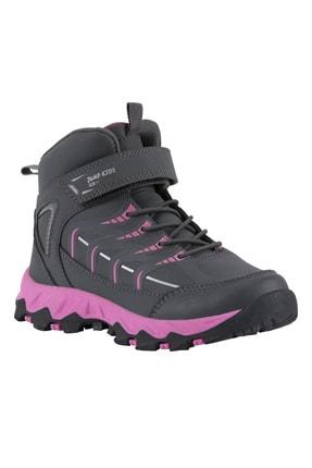 Jump Kız Çocuk Koyu Gri - Fuşya  Spor Ayakkabı 25806
