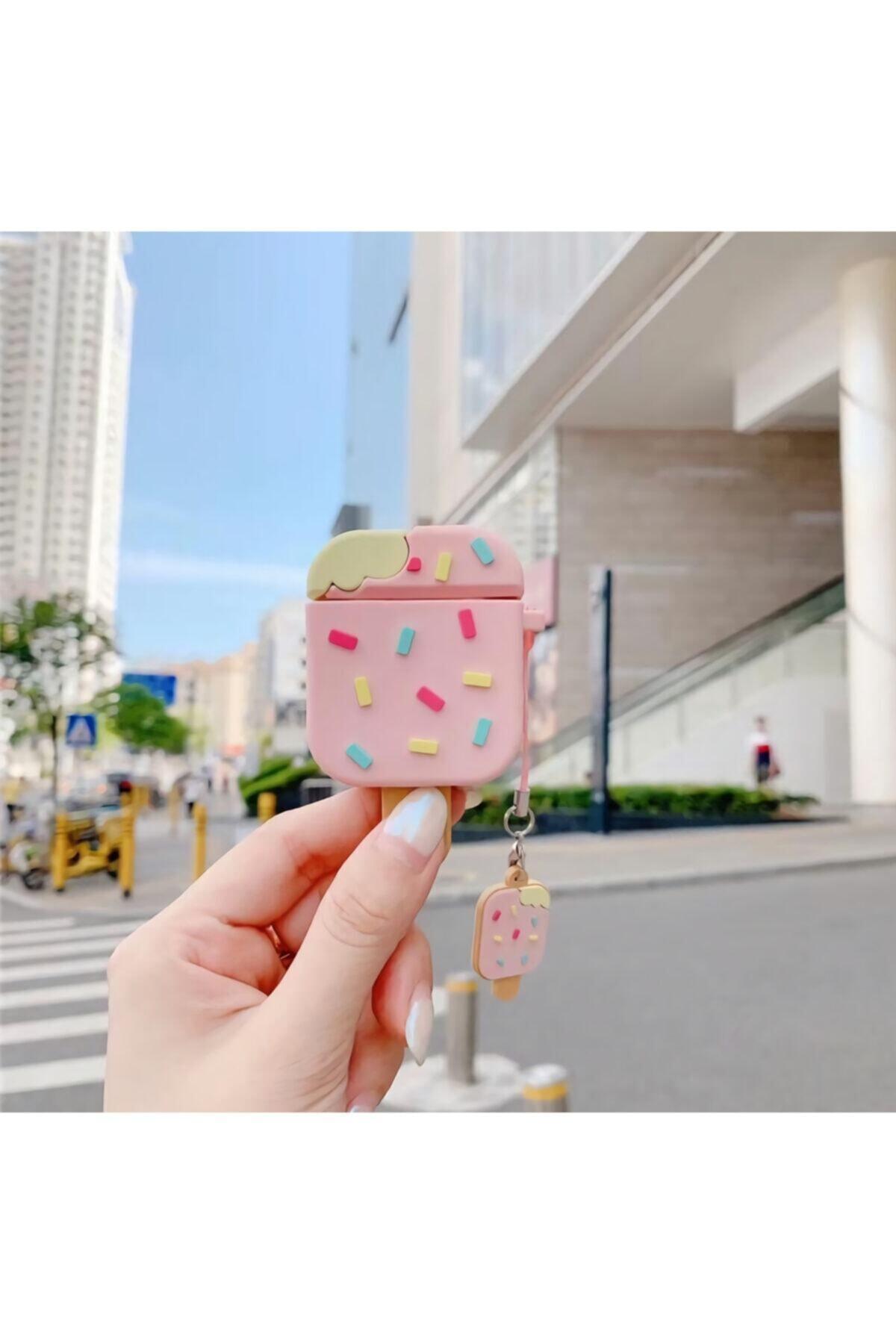 MY MÜRDÜM Apple Airpods Sevimli Çubuk Dondurma Kılıf 1 Ve 2. Nesil 1