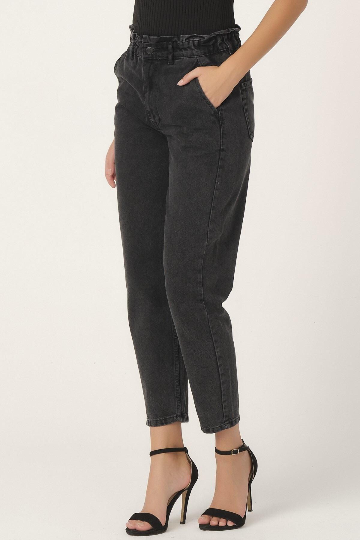 its basic Kadın Füme Renk Beli Lastikli Balon Jean 2