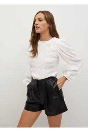 MANGO Woman Kadın Beyaz Bluz