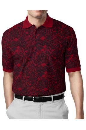 İgs Erkek Bordo Modern Fit Polo Yaka T-shirt