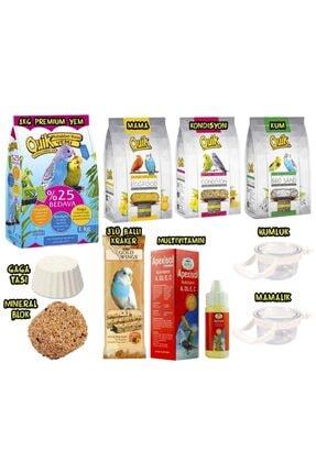 Quik Premium Muhabbet Kuşu Besin Paketi 10 Parça