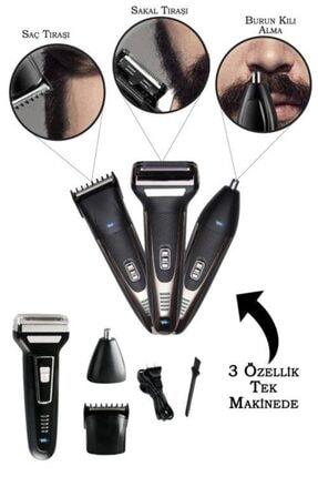 yopigo Siyah Erkek Bakım Seti 3in1 Fronex Model Tıraş Makinesi