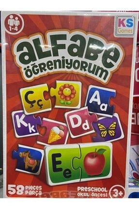 Ks Games Alfabe Öğreniyorum Eşleştirme Çocuk Zeka Akıl Oyunu - 58 Parça