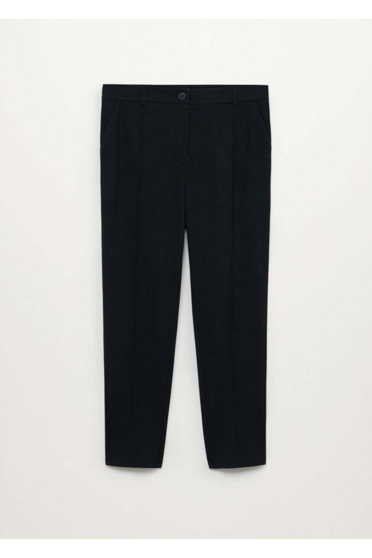 Violeta by MANGO Kadın Siyah Dar Kesimli Takım Pantolon 1