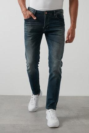 Buratti Erkek Lacivert Normal Bel Dar Paça Skinny Jeans Pamuklu Kot Pantolon 7291H884BARTEZ