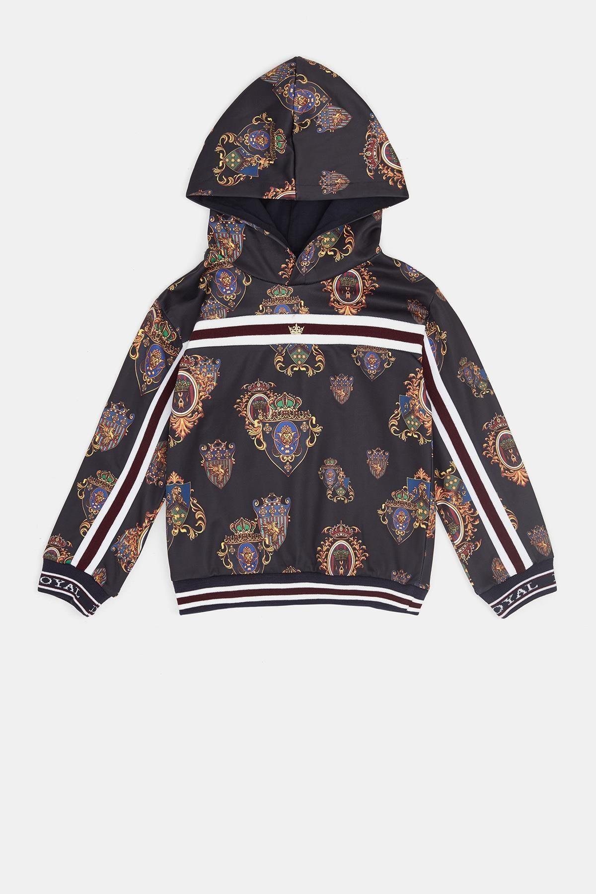Nebbati Erkek Çocuk Desenli Sweatshirt 1