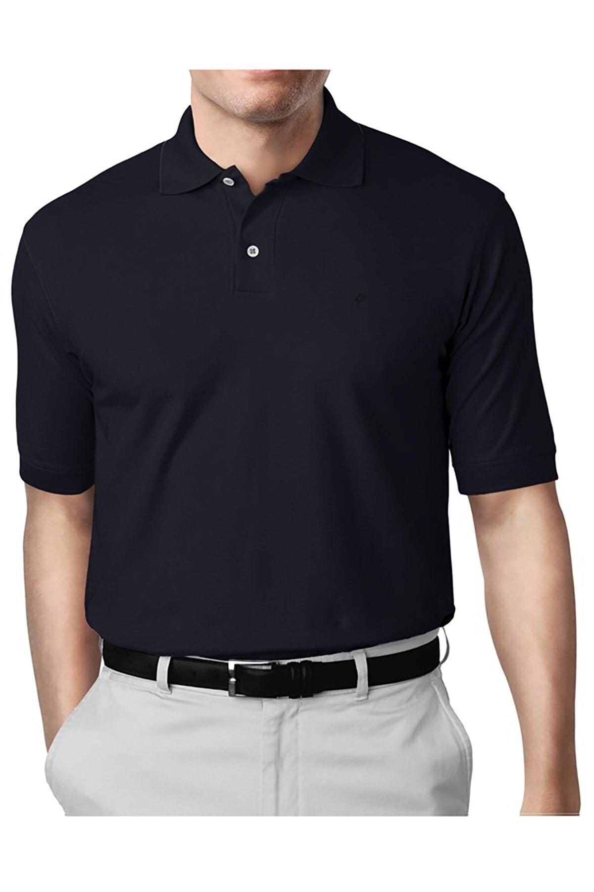 İgs Erkek Lacivert Modern Fit Polo Yaka T-shirt 1