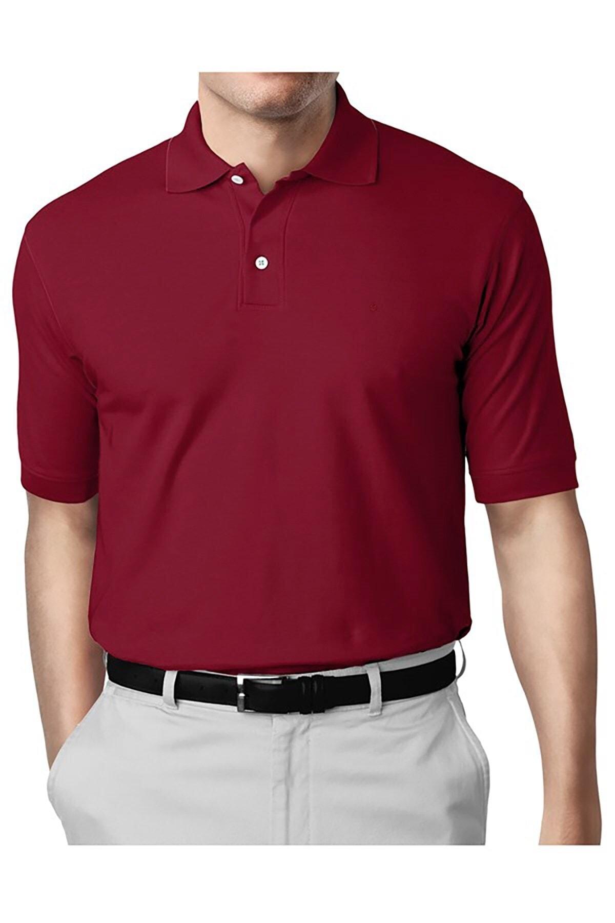 İgs Erkek Bordo Modern Fit Polo Yaka T-shirt 1
