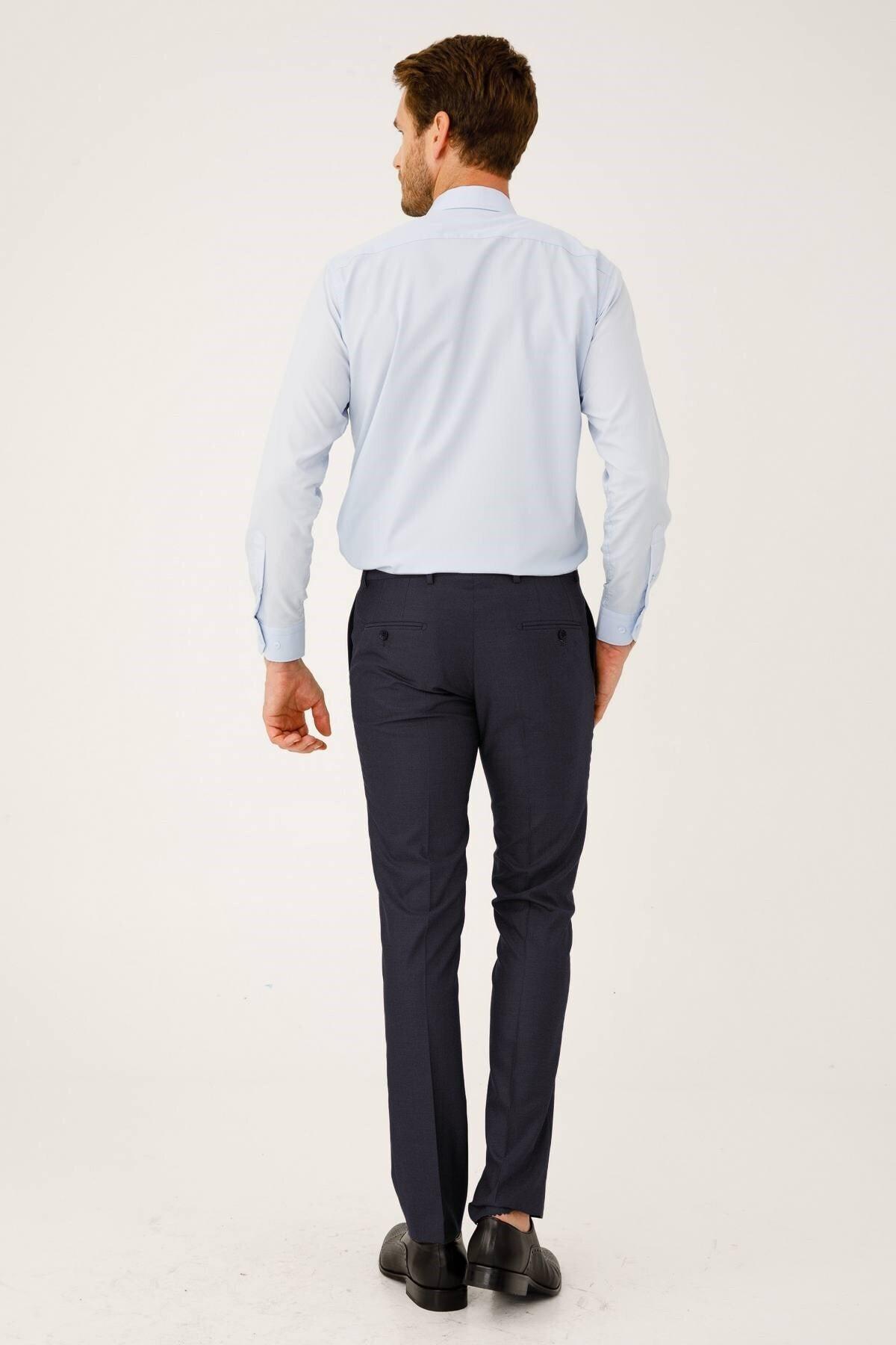 İgs Erkek Koyu Lacivert Dar Kalıp Pantolon 2