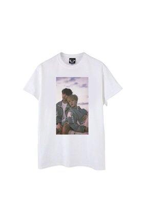 TakeTshirt Bts Jikook Tshirt Beyaz Unisex