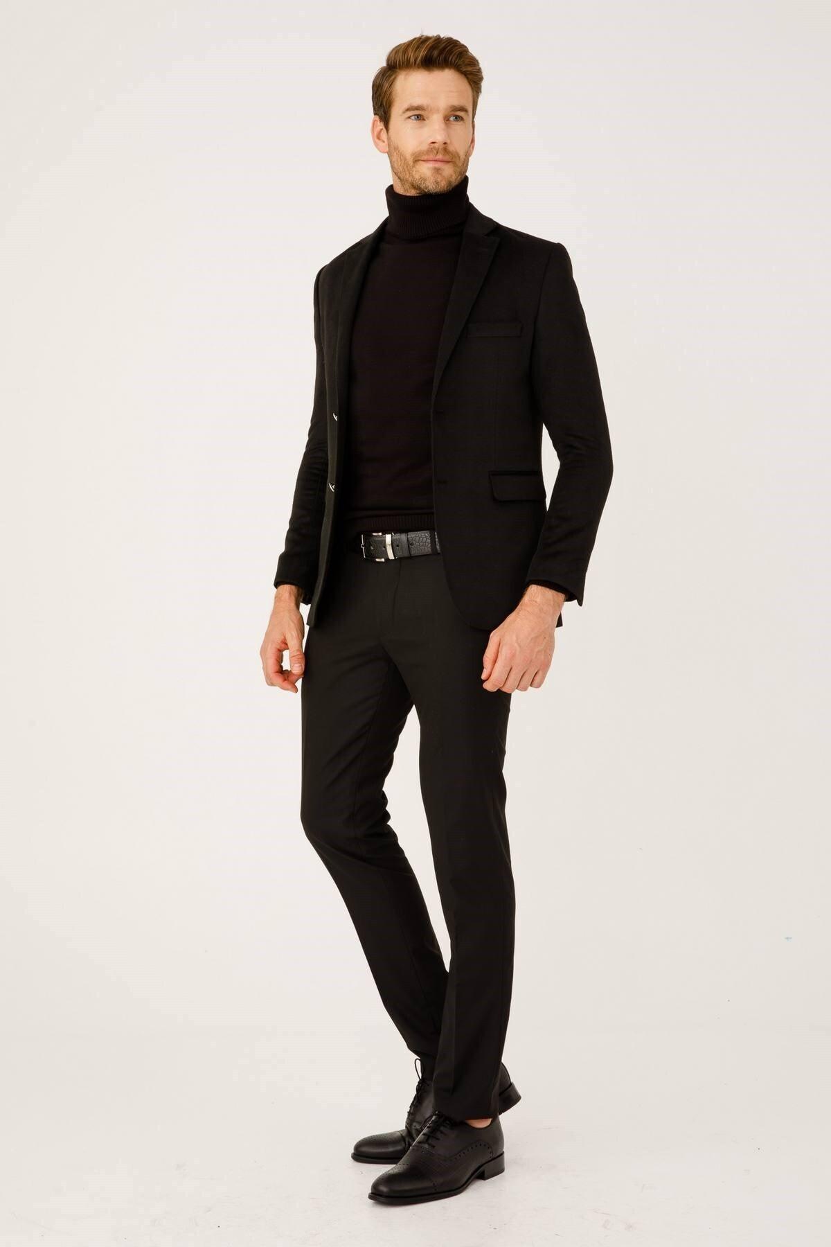İgs Erkek Siyah Rahat Kalıp Pantolon 1