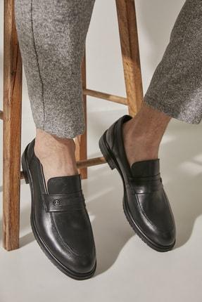 Hotiç Hakiki Deri Siyah Erkek Modern Loafer 02AYH195830A100