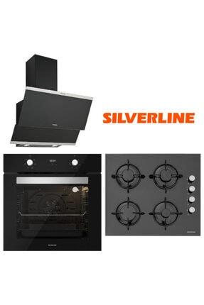 Silverline Siyah Cam Ankastre Set Bo6502b01 - Cs5349b01 - 3420 Classy