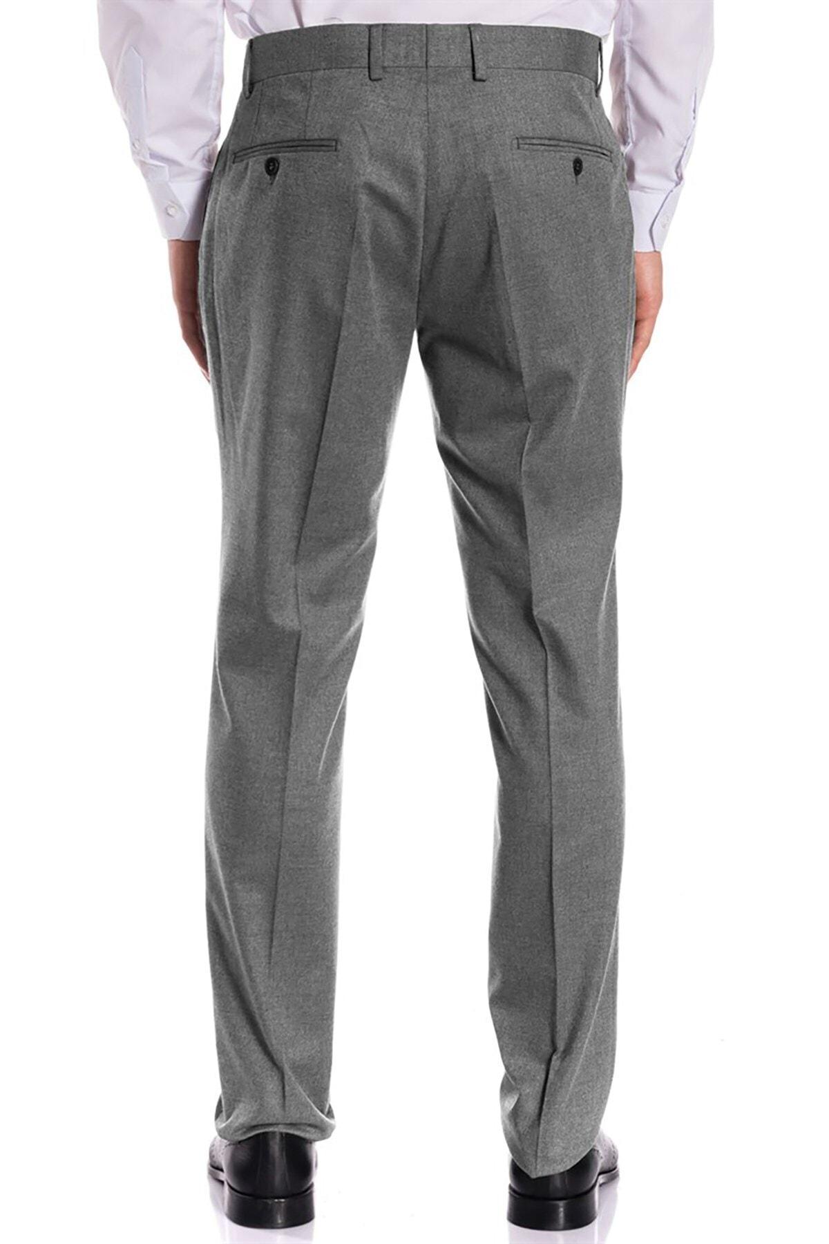 İgs Erkek Gri Regular Fit Pantolon 2