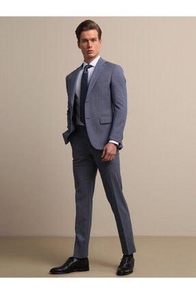 Kip Erkek Mavi Micro Dokuma Takım Elbise