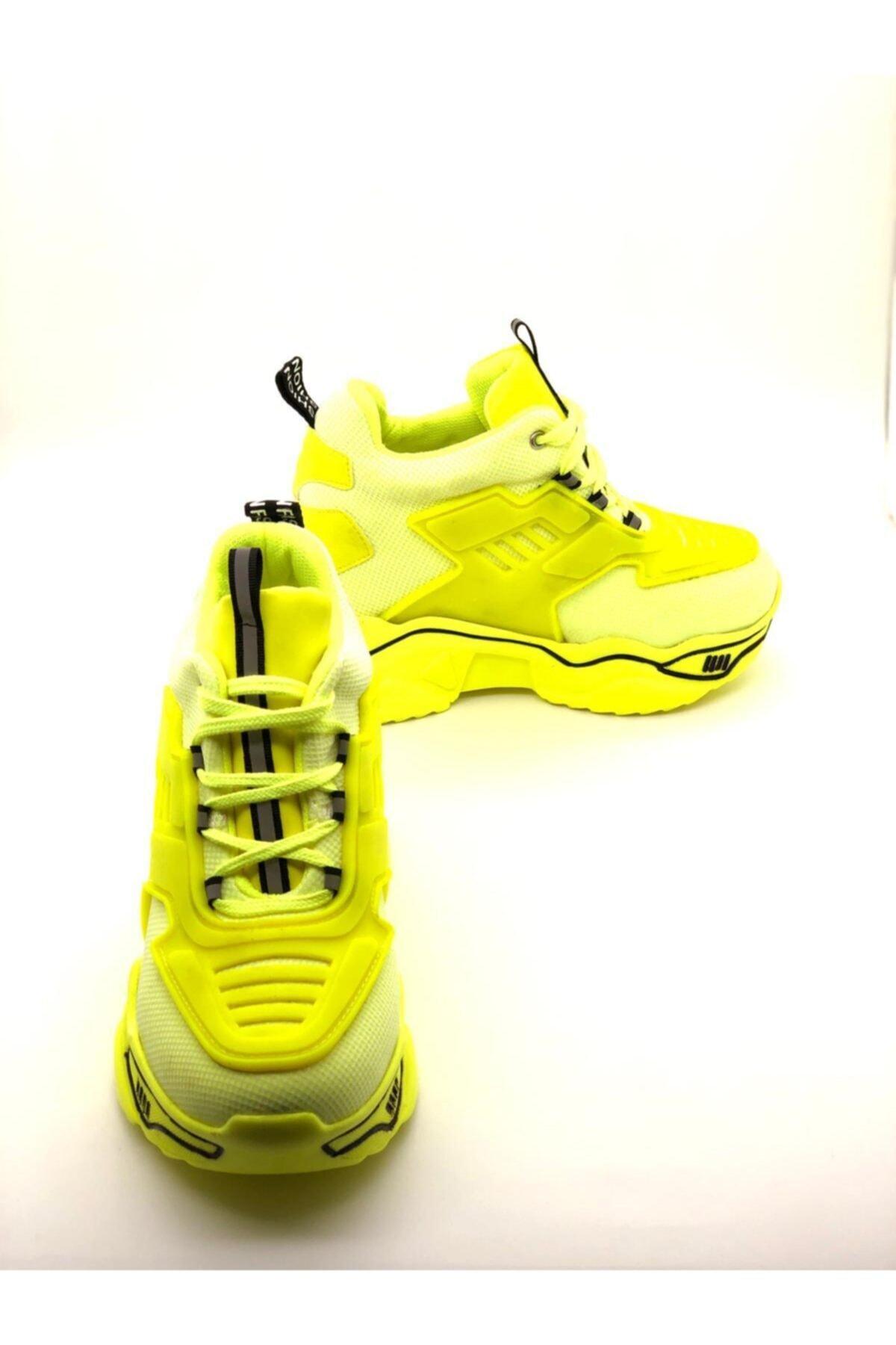 Forse Ayakkabı Kadın Yeşil Fashion Yüksek Taban Sneaker 1