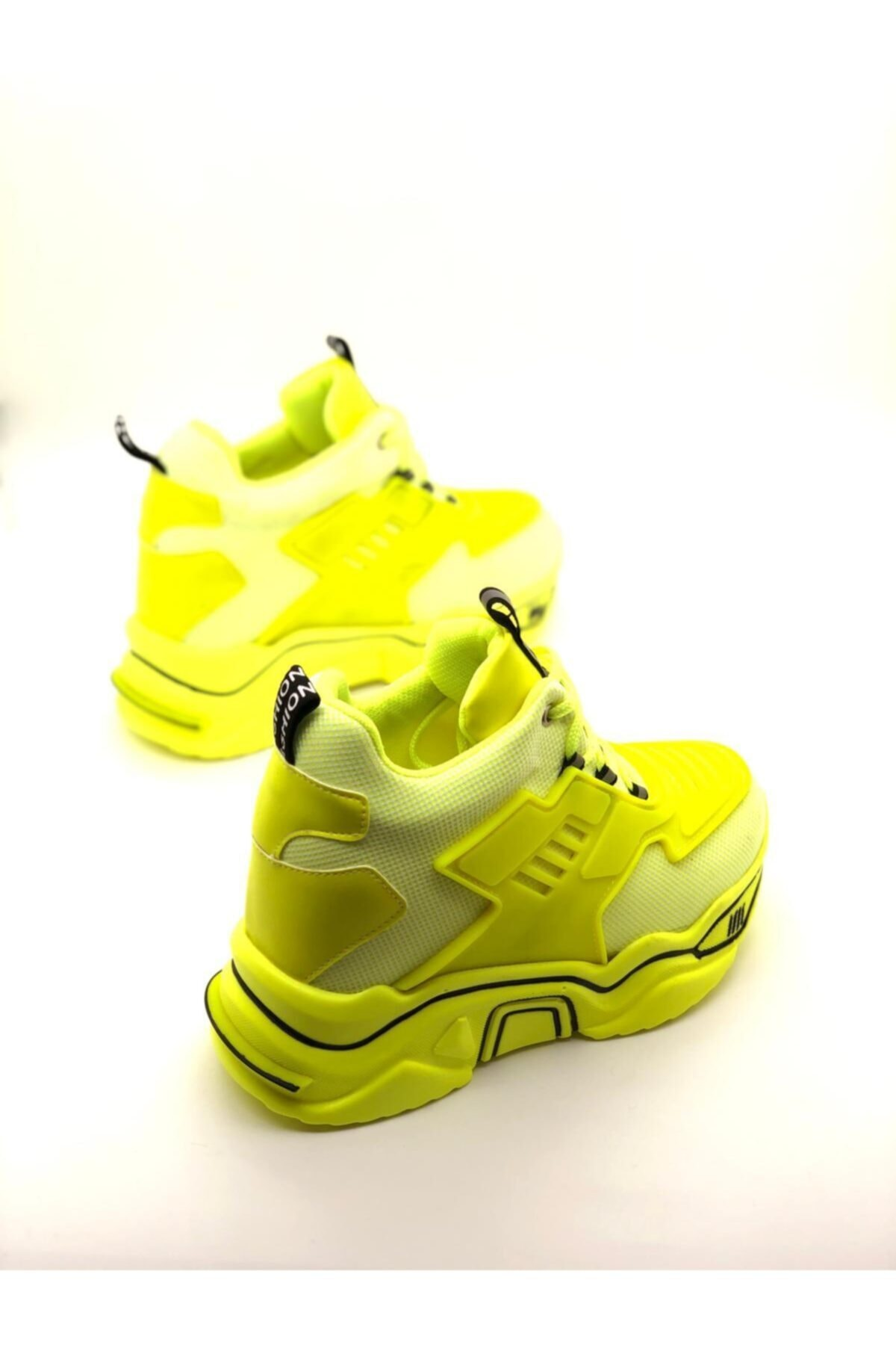 Forse Ayakkabı Kadın Yeşil Fashion Yüksek Taban Sneaker 2