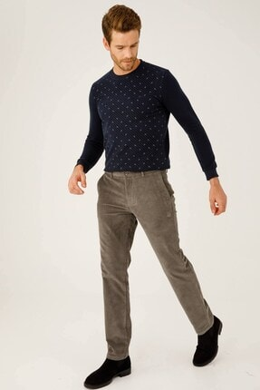 İgs Erkek Bej Regularfıt  Rahat Kalıp  Pantolon
