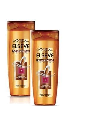 ELSEVE Loreal 6 Mucizevi Yağ Bakım Şampuanı 360 Ml 2 Adet