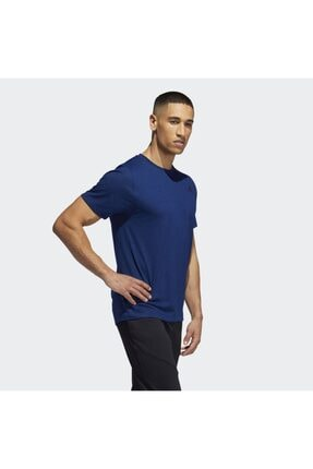 adidas Erkek Lacivert Freelıft Sport Prıme Heather Tee T-Shirt Eb8027
