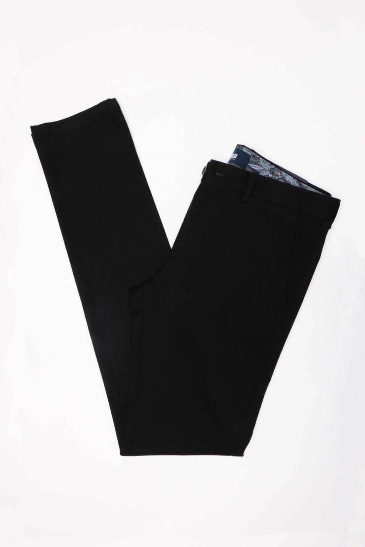 Jakamen Erkek Siyah Ekstra Slim Pantolon Jk32es12m023 1