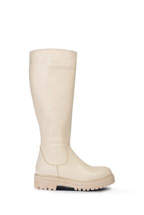 Deery Kadın Bej Deri Çizme