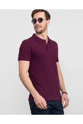 Tudors Slim Fit Kendinden Desenli Pike T-shirt