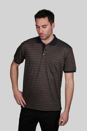 İgs Erkek Vizon Regular Fit Polo Yaka T-shirt