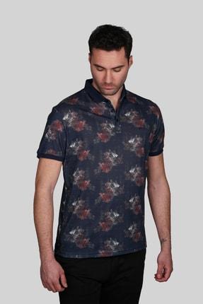 İgs Erkek Lacivert Modern Fit  Polo Yaka T-shirt
