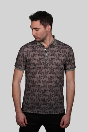 İgs Erkek Açık Kahve Modern Fit Polo Yaka T-shirt