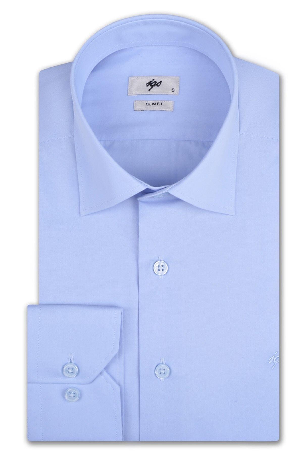 İgs Erkek Açık Mavi Slim Fit Gömlek 1