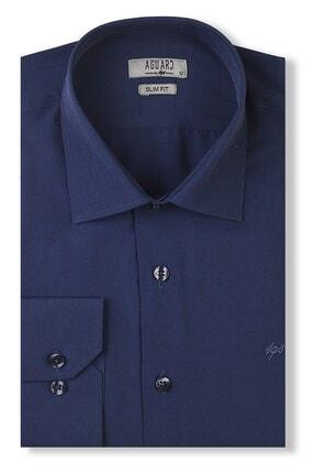 İgs Erkek Lacivert Slim Fit Klasik Gömlek