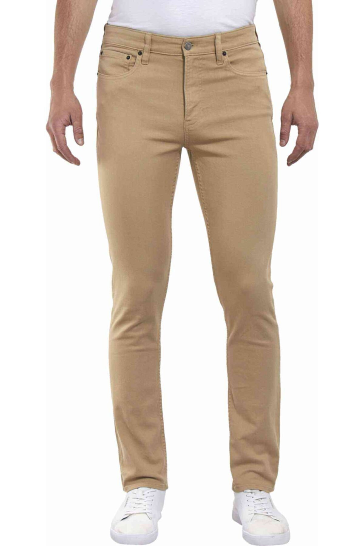 Calvin Klein Erkek Bej Pantolon Slım Stretch Twıll Pantolon 1