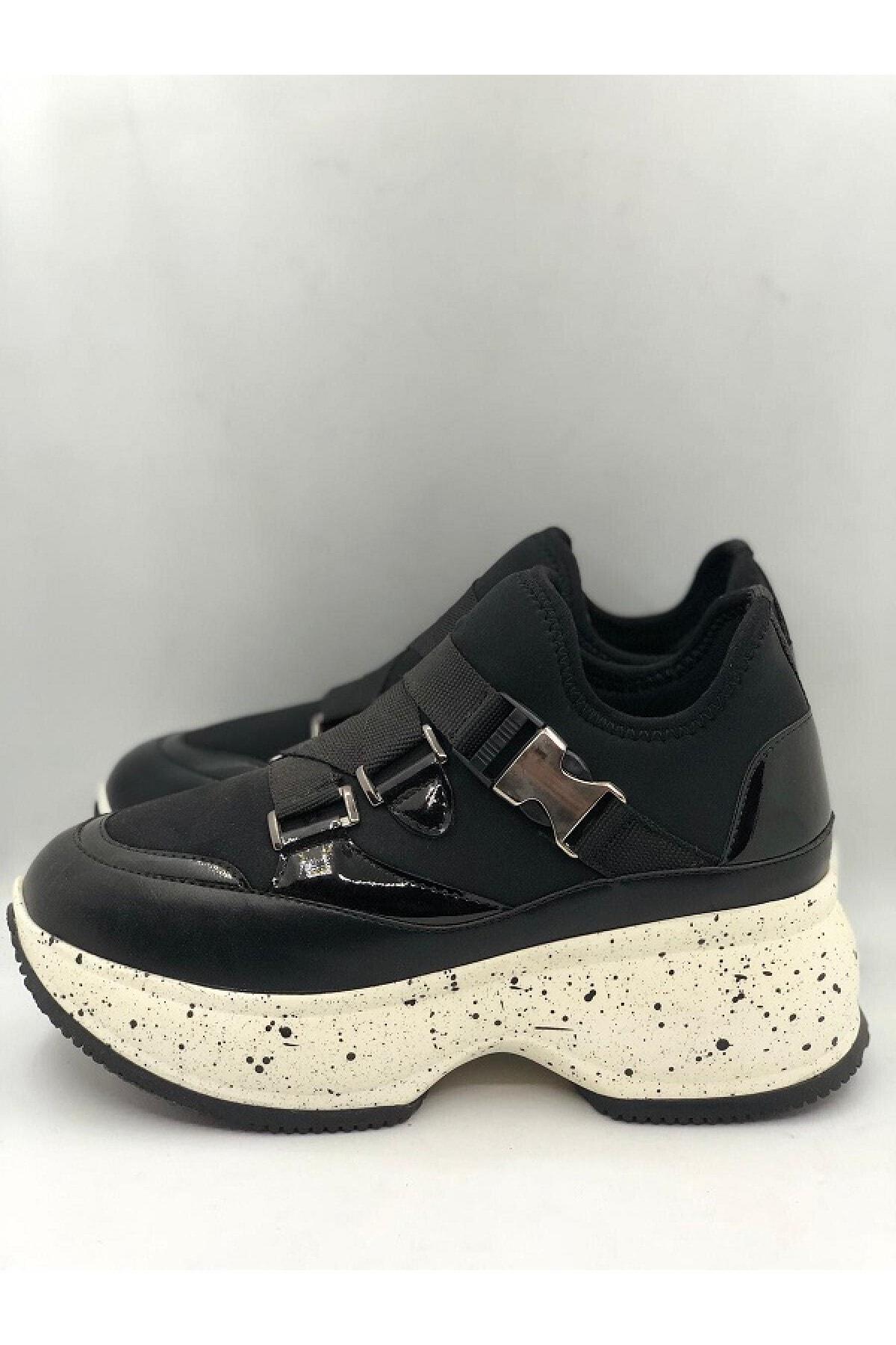 Seniorah Kadın Siyah Spor Ayakkabı 1