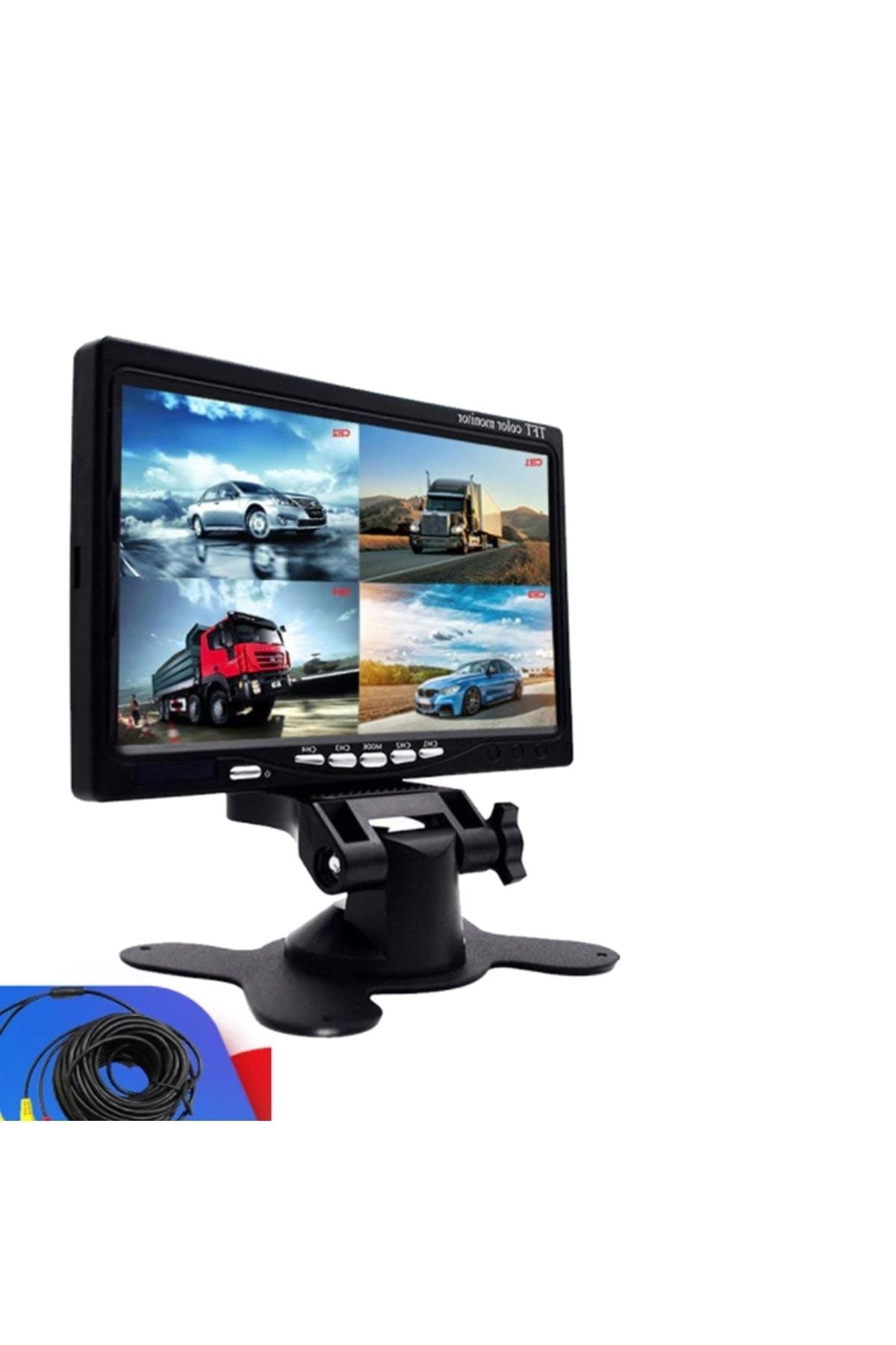 "AEM Servis Tip Lcd Ekran 4 Bölge Gösteren Kamera 7"" 1"