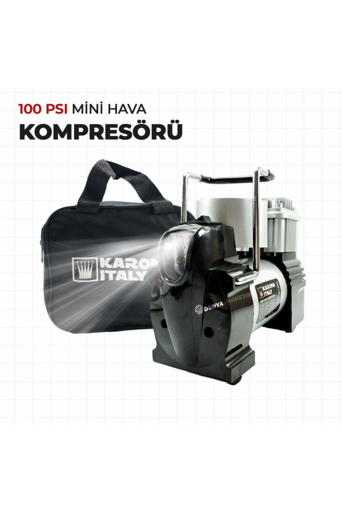 Karona İtaly 100 Psı Mini Hava Kompresörü Araç Kompresörü 2