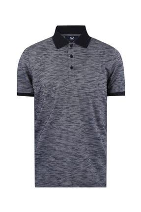 W Collection Erkek Gri  Polo Yaka T-shirt