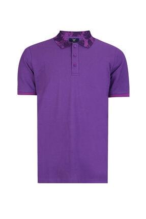 W Collection Erkek Mor Polo Yaka T-shirt