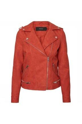Vero Moda Kadın Kırmızı World Short Faux Leather Jacket
