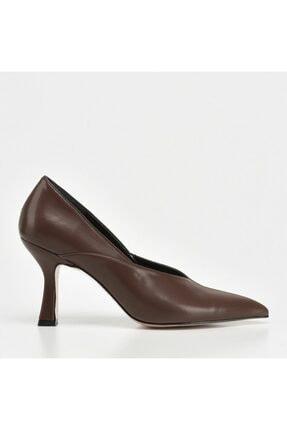 Hotiç Kadın Kahverengi Stiletto Ayakkabı