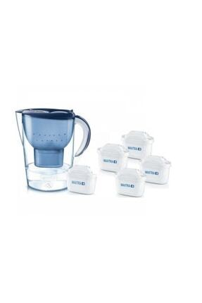 BRITA Marella Xl Mavi Su Arıtmalı Sürahi -toplam 5 Adet Maxtra + Plus Filtreli