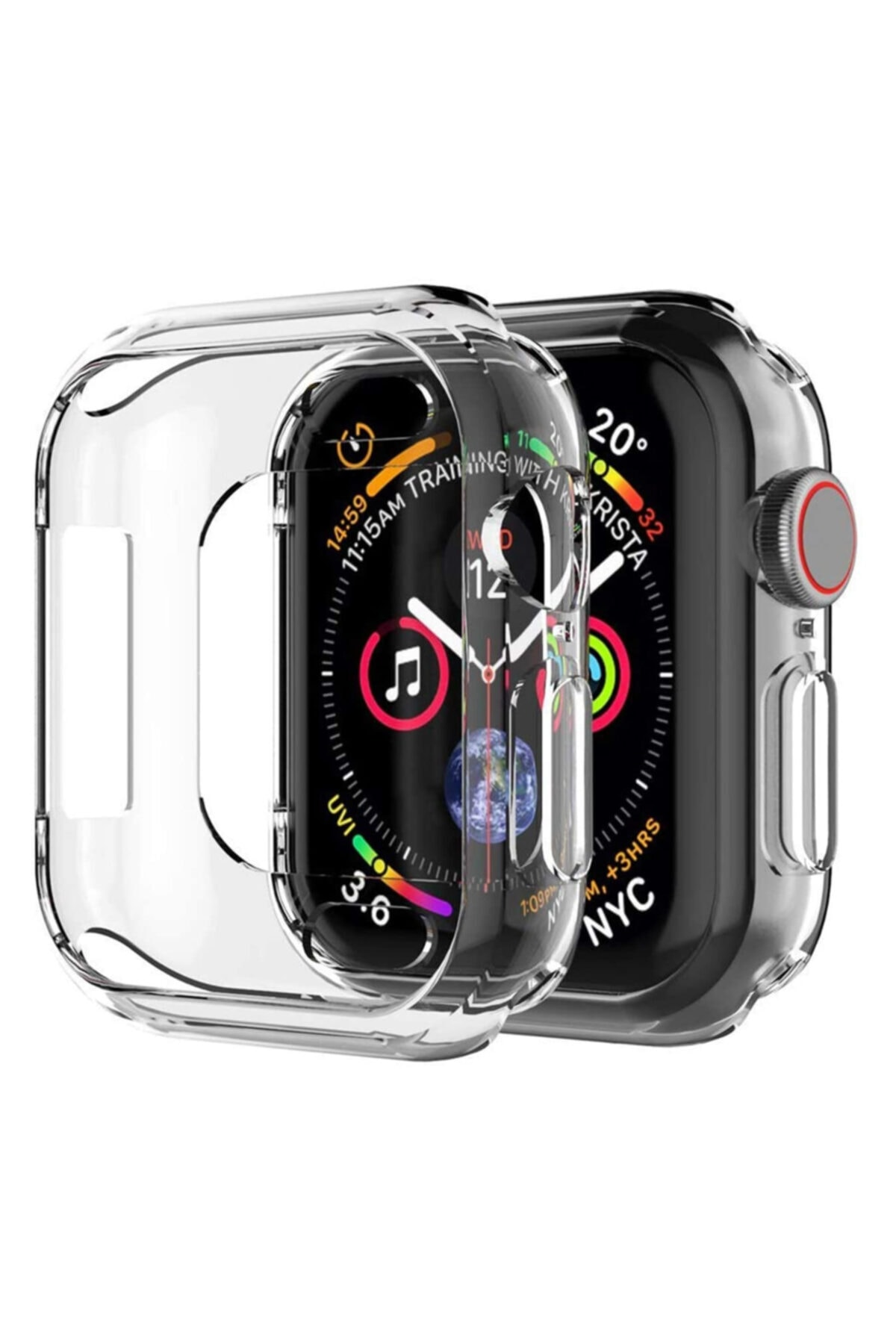 Microsonic Microsonic Watch Series 6 40mm Kılıf 360 Full Round Soft Silicone Şeffaf 1