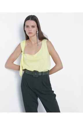 İpekyol Kadın Açık Yeşil Askı Detaylı Tshirt