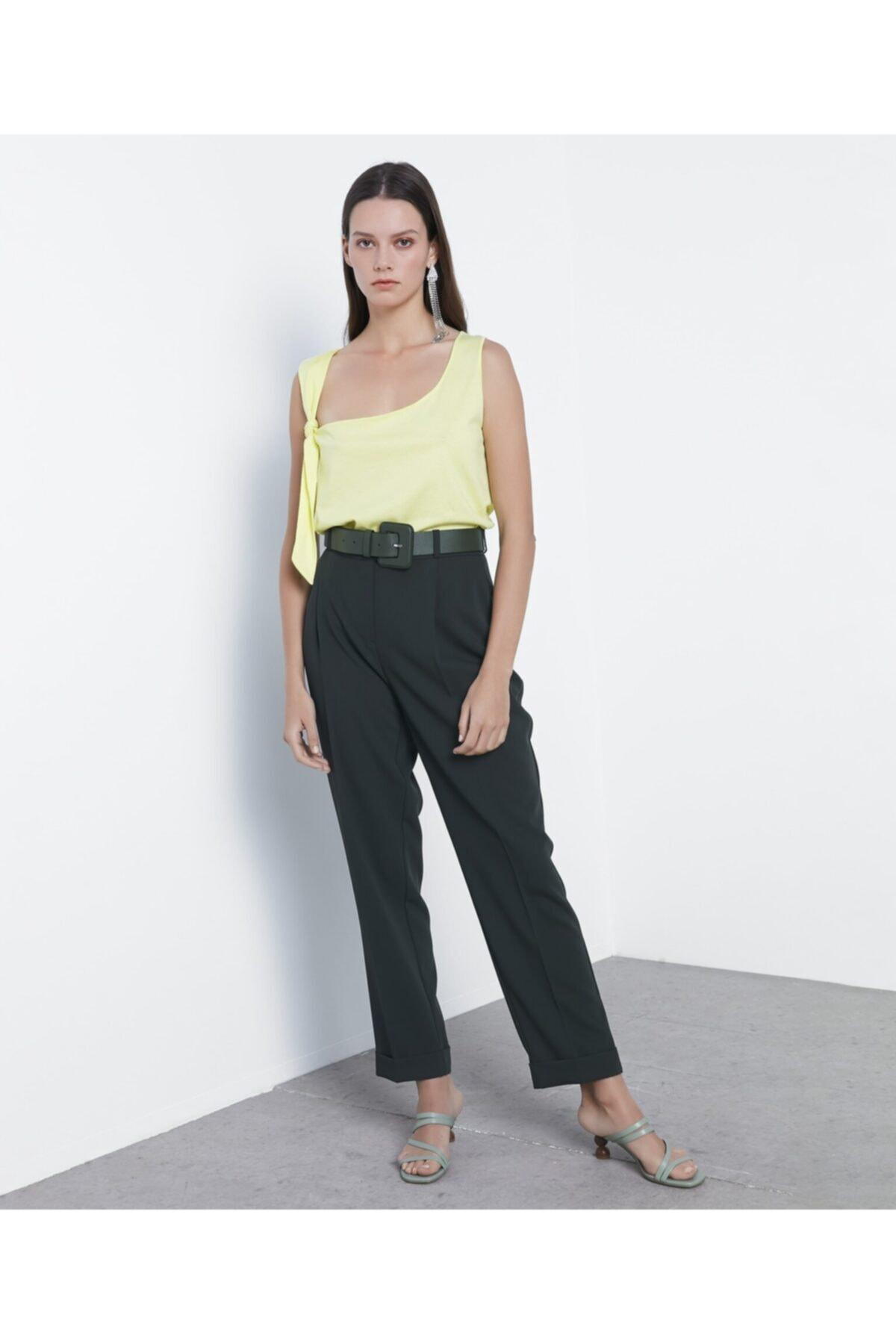 İpekyol Kadın Açık Yeşil Askı Detaylı Tshirt 2