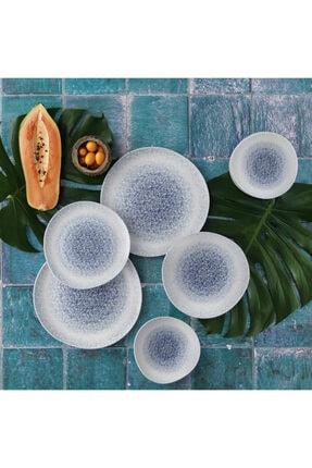 Güral Porselen Beyaz 24 Parça Roden Asimetrik Yemek Seti